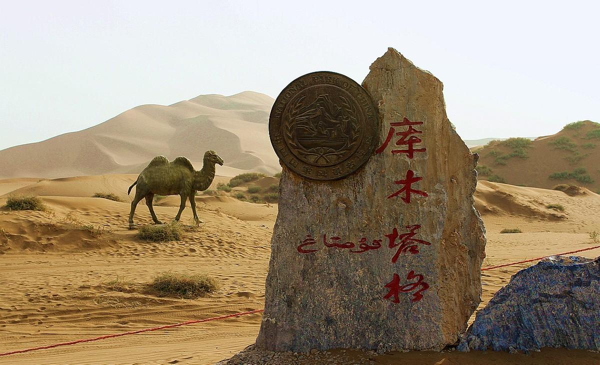 走  进  库 木 塔 格  沙  漠